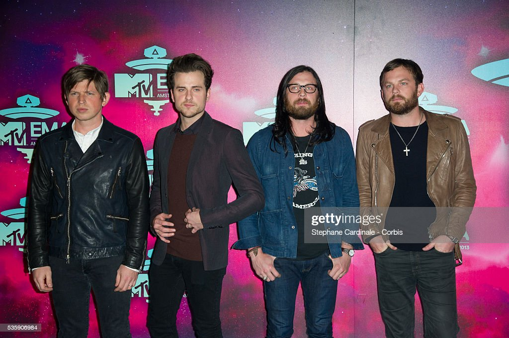Matthew Followill, Jared Followill, Nathan Followill and Caleb Followill of Kings of Leon attend the MTV EMA's 2013 at the Ziggo Dome in Amsterdam, Netherlands.