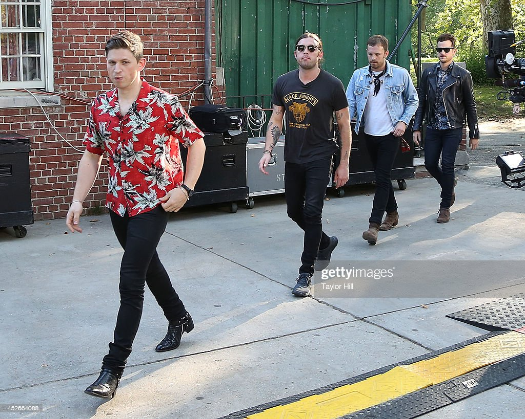 <a gi-track='captionPersonalityLinkClicked' href=/galleries/search?phrase=Matthew+Followill&family=editorial&specificpeople=209326 ng-click='$event.stopPropagation()'>Matthew Followill</a>, <a gi-track='captionPersonalityLinkClicked' href=/galleries/search?phrase=Nathan+Followill&family=editorial&specificpeople=221434 ng-click='$event.stopPropagation()'>Nathan Followill</a>, <a gi-track='captionPersonalityLinkClicked' href=/galleries/search?phrase=Caleb+Followill&family=editorial&specificpeople=210594 ng-click='$event.stopPropagation()'>Caleb Followill</a>, and <a gi-track='captionPersonalityLinkClicked' href=/galleries/search?phrase=Jared+Followill&family=editorial&specificpeople=215031 ng-click='$event.stopPropagation()'>Jared Followill</a> of Kings of Leon arrive in Central Park on ABC's 'Good Morning America' at Rumsey Playfield, Central Park on July 25, 2014 in New York City.