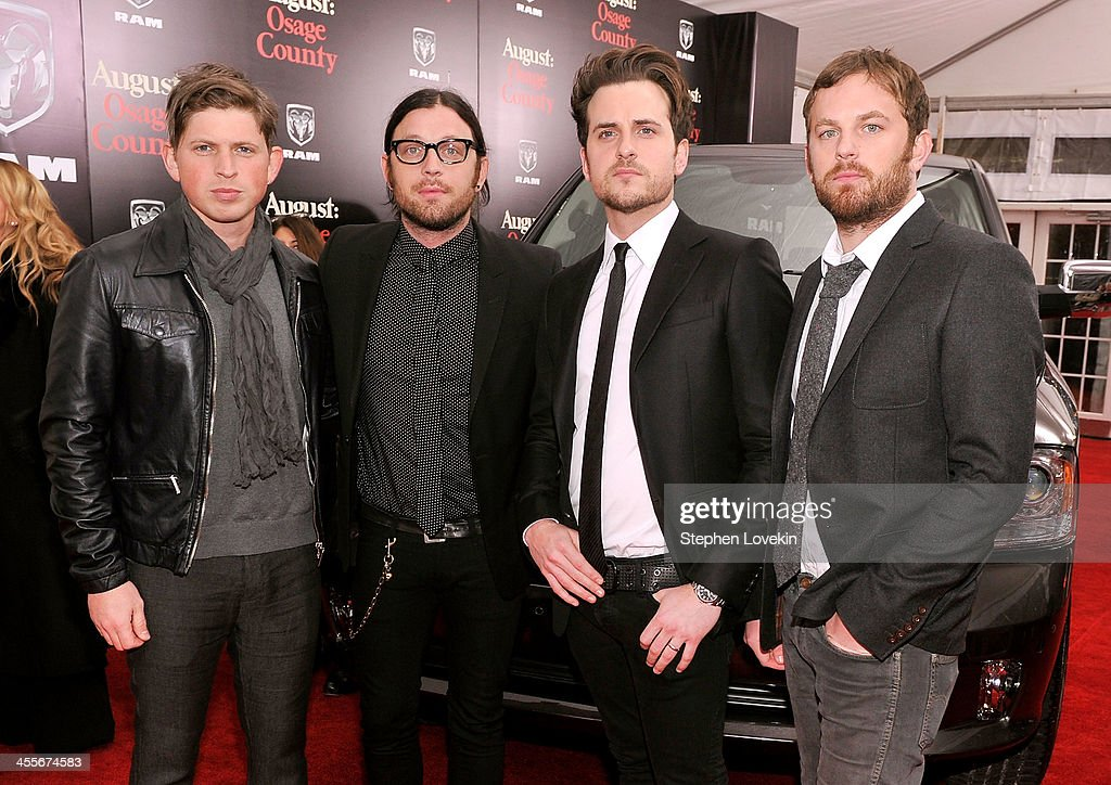<a gi-track='captionPersonalityLinkClicked' href=/galleries/search?phrase=Matthew+Followill&family=editorial&specificpeople=209326 ng-click='$event.stopPropagation()'>Matthew Followill</a>, <a gi-track='captionPersonalityLinkClicked' href=/galleries/search?phrase=Nathan+Followill&family=editorial&specificpeople=221434 ng-click='$event.stopPropagation()'>Nathan Followill</a>, <a gi-track='captionPersonalityLinkClicked' href=/galleries/search?phrase=Jared+Followill&family=editorial&specificpeople=215031 ng-click='$event.stopPropagation()'>Jared Followill</a> and <a gi-track='captionPersonalityLinkClicked' href=/galleries/search?phrase=Caleb+Followill&family=editorial&specificpeople=210594 ng-click='$event.stopPropagation()'>Caleb Followill</a> of Kings of Leon attend 'August: Osage County' New York City premiere sponsored by Ram at Ziegfeld Theatre on December 12, 2013 in New York City.