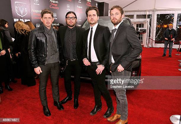 Matthew Followill Nathan Followill Jared Followill and Caleb Followill of Kings of Leon attend 'August Osage County' New York City premiere sponsored...