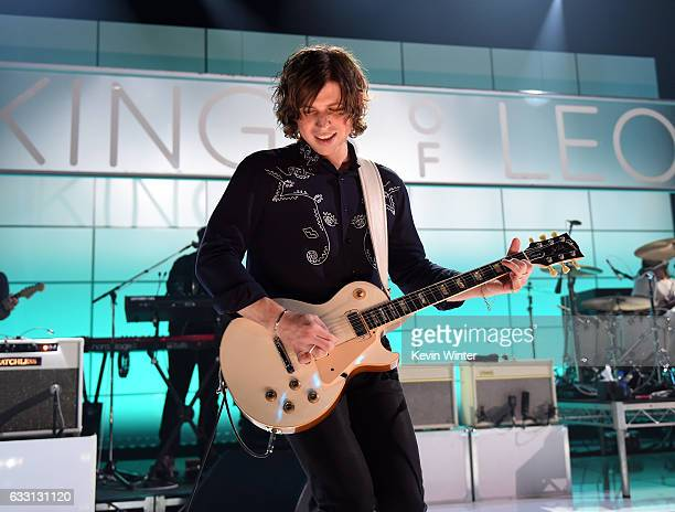 Matthew Followill of Kings Of Leon performs on stage on ATT at iHeartRadio Theater LA on January 30 2017 in Burbank California