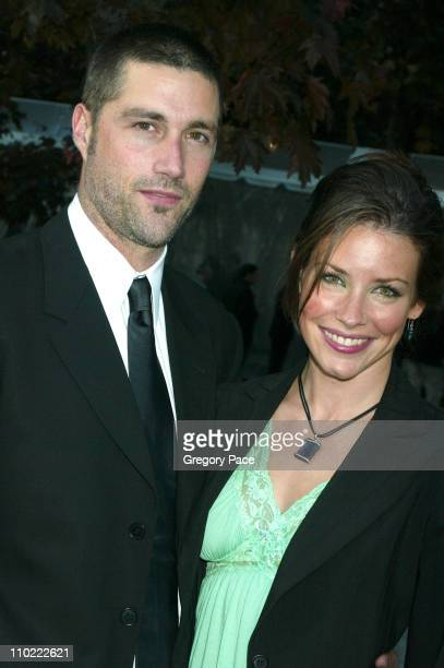 Matthew Fox and Evangeline Lilly of 'Lost' during 2005/2006 ABC UpFronts at Lincoln Center in New York City New York United States