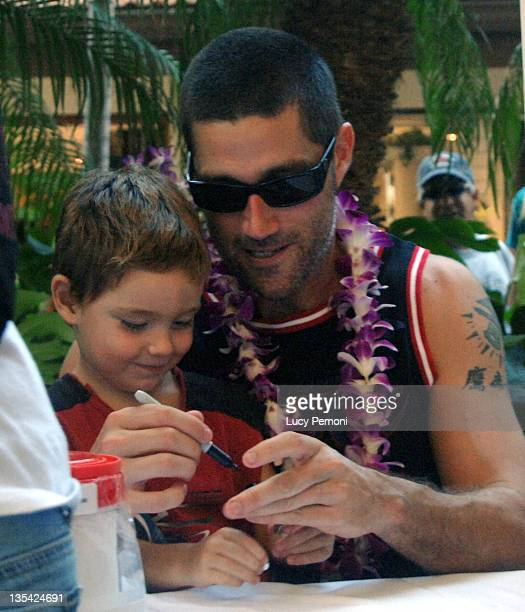 Matthew Fox and son Byron 3 during Cast of 'Lost' Raises Money for American Cross Hurricane Katrina Relief Fund in Honolulu at in Honolulu Hawaii...