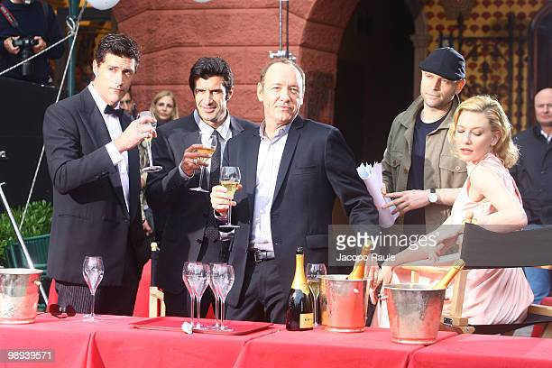 Matthew Fox Luis Figo Kevin Spacey Marc Forster and Cate Blanchett are seen while filming for IWC on May 8 2010 in Portofino Italy