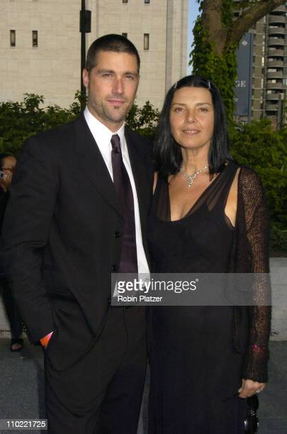 Matthew Fox of 'Lost' with wife Margarita during 2005/2006 ABC UpFront at Lincoln Center in New York City New York United States
