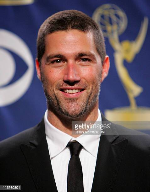 Matthew Fox presenter during 57th Annual Primetime Emmy Awards Press Room at The Shrine in Los Angeles California United States