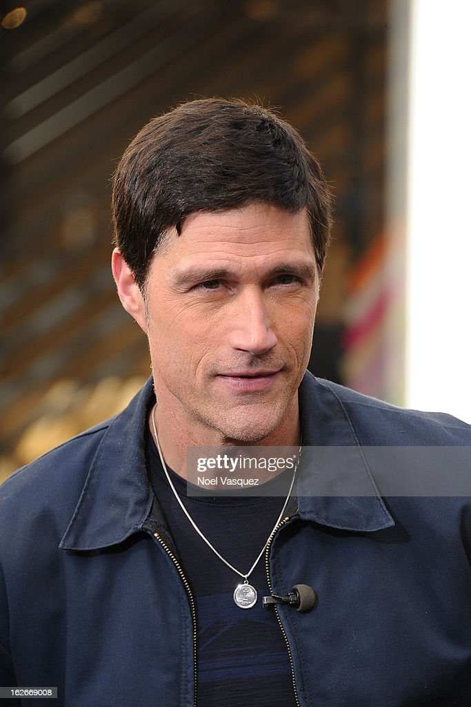 <a gi-track='captionPersonalityLinkClicked' href=/galleries/search?phrase=Matthew+Fox&family=editorial&specificpeople=210674 ng-click='$event.stopPropagation()'>Matthew Fox</a> visits Extra at The Grove on February 25, 2013 in Los Angeles, California.