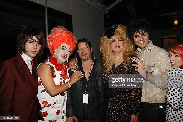 Matthew Frame Brandywine Scott Gray Brenda A GoGo and Joseph attend MARC JACOBS After Party at Gramercy Park Hotel on September 11 2006 in New York...