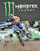 Matthew Goerke rides during a qualifying practice at the Monster Energy Cup at Sam Boyd Stadium on October 18 2014 in Las Vegas Nevada