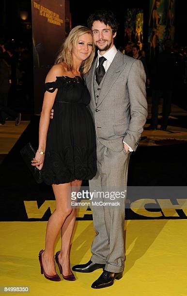 Matthew Goode and partner attend the world premiere of 'Watchmen' at Odeon Leicester Square on February 23 2009 in London England