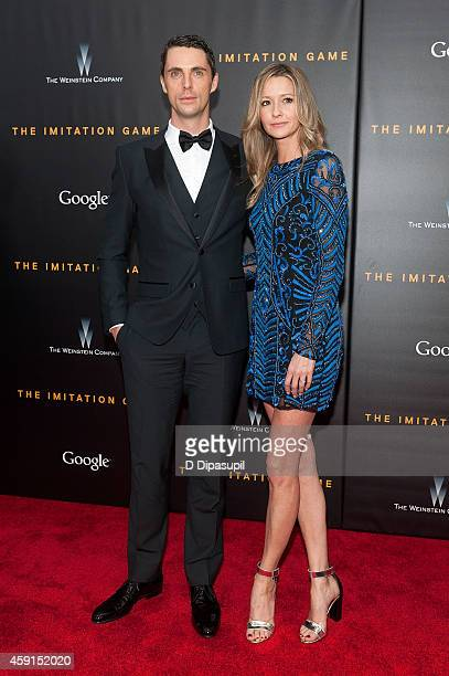 Matthew Goode and Sophie Dymoke attend 'The Imitation Game' New York Premiere at the Ziegfeld Theater on November 17 2014 in New York City