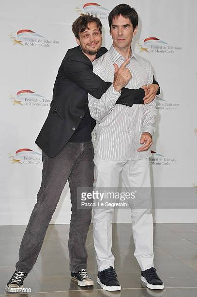 Matthew Gray Gubler and Thomas Gibson attend 'Criminal Minds' photocall during the 51st Monte Carlo TV Festival at the Grimaldi forum on June 8 2011...