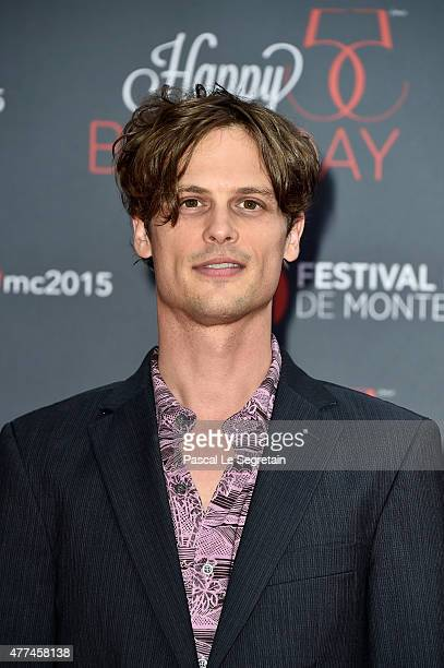 Matthew Gray Gubler attends the 55th Monte Carlo Beach anniversary as part of the 55th Monte Carlo TV Festival Day 4 on June 16 2015 in MonteCarlo...