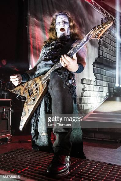 Matthew Greywolf of Powerwolf performs at Shepherd's Bush Empire on February 3 2017 in London United Kingdom