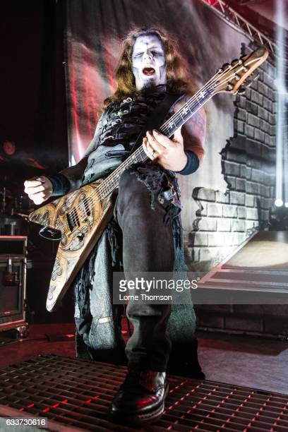 Matthew Greywolf of Powerwolf performs at Shepherd's Bush Empire on February 3 2017 in London United Kingdom