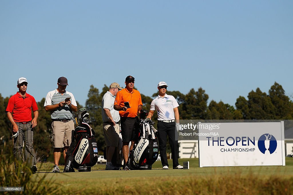 Matthew Griffin of Australia prepares to play a shot on the 5th hole during day two of the British Open International Final Qualifying Australasia at Kingston Heath Golf Club on January 30, 2013 in Melbourne, Australia.