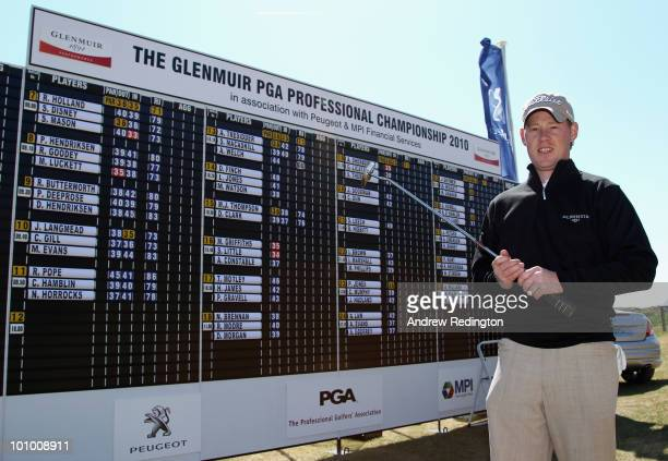 Matthew Griffiths of Oakdale poses for a photograph after playing in the Glenmuir PGA Professional Championship Regional Qualifier at Saunton Golf...