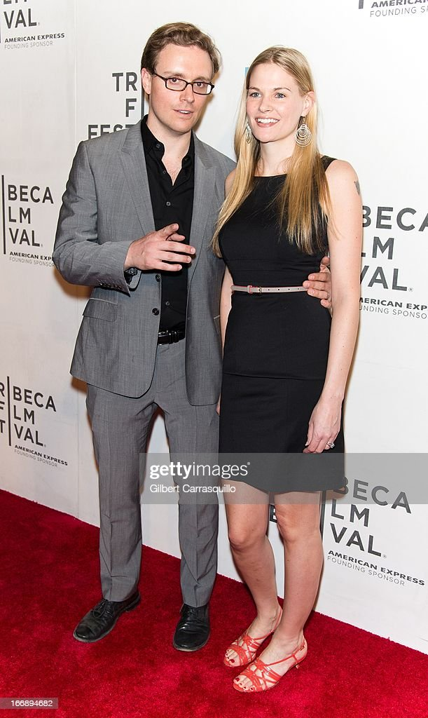 Matthew Hamachek and Tina Grapenthin attend the 'Mistaken for Strangers premiere during the opening night of the 2013 Tribeca Film Festival at BMCC Tribeca PAC on April 17, 2013 in New York City.