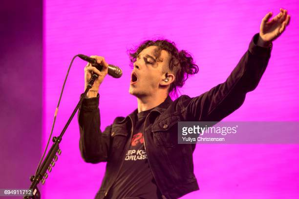 Matthew Healy of The 1975 performs at Northside Festival on June 11 2017 in Aarhus Denmark