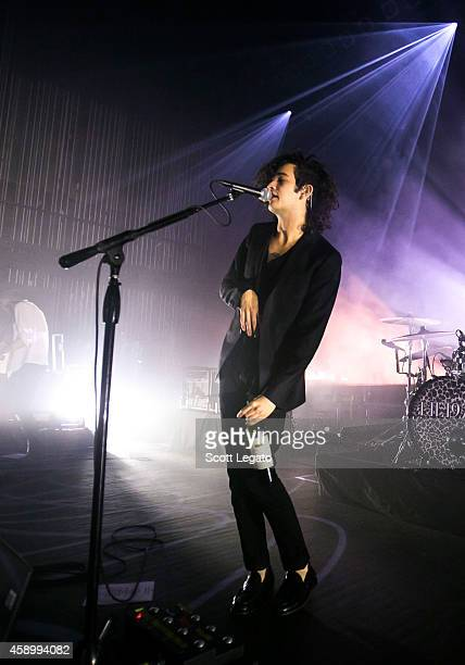 Matthew Healy of The 1975 performs at The Fillmore Detroit on November 4 2014 in Detroit Michigan