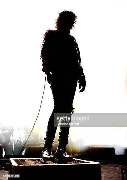 Matthew Healy of The 1975 performs at the first of four consecutive sold out homecoming shows at 02 Apollo Manchester on September 21 2014 in...