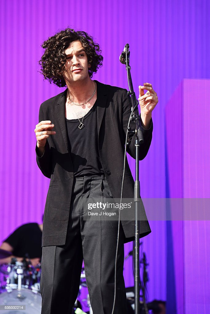 <a gi-track='captionPersonalityLinkClicked' href=/galleries/search?phrase=Matthew+Healy&family=editorial&specificpeople=10172163 ng-click='$event.stopPropagation()'>Matthew Healy</a> of The 1975 performs during day 2 of BBC Radio 1's Big Weekend at Powderham Castle on May 29, 2016 in Exeter, England.