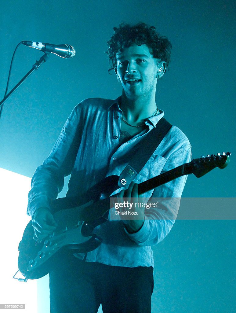 Matthew Healy of The 1975 performs on Day 3 of Reading Festival at Richfield Avenue on August 28, 2016 in Reading, England.