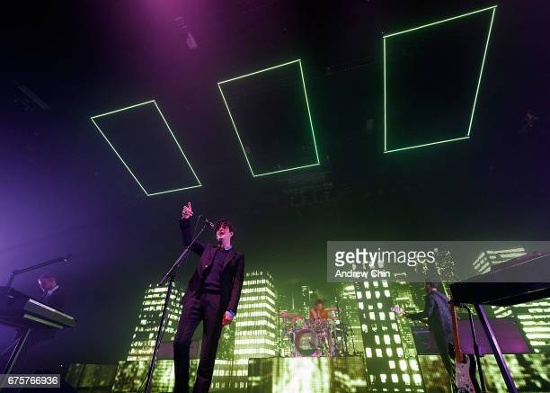 Matthew Healy of The 1975 performs on stage at PNE Forum on May 1 2017 in Vancouver Canada