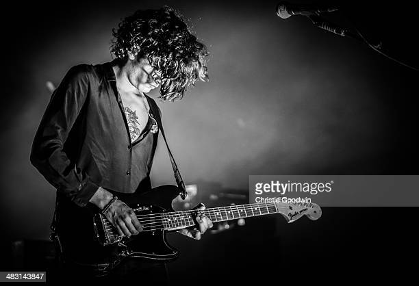 Matthew Healy of The 1975 performs on stage at Royal Albert Hall on April 6 2014 in London United Kingdom
