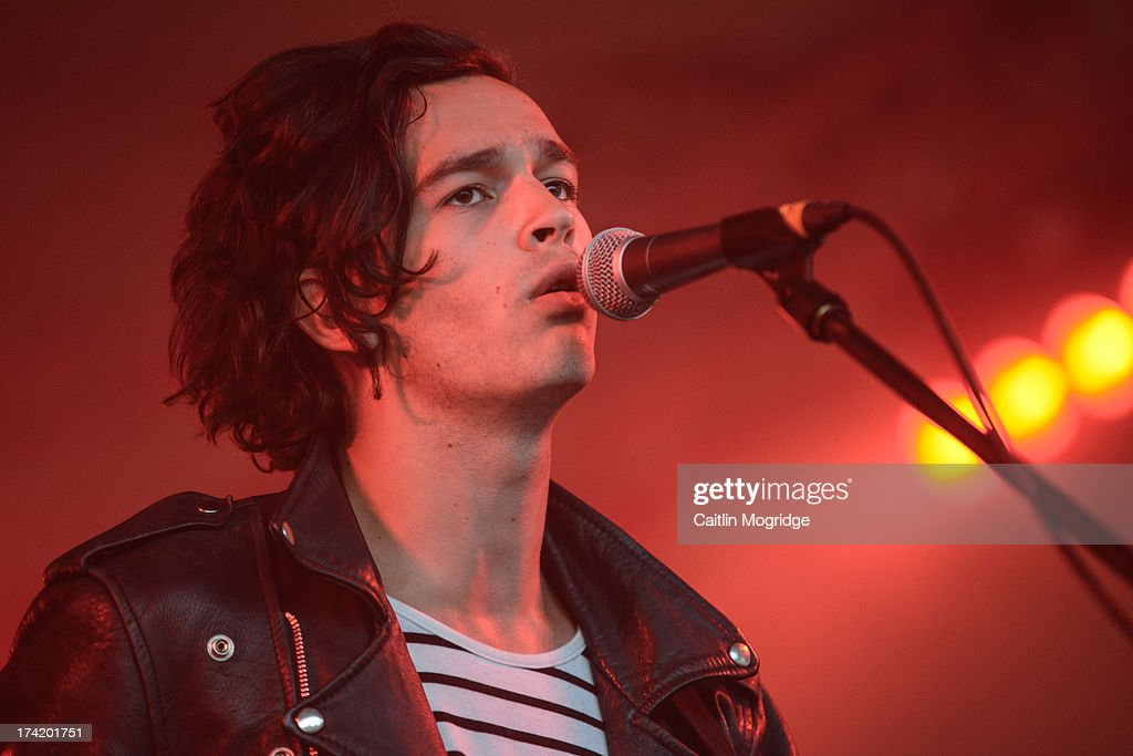 Matthew Healy of the 1975 performs on stage on Day 4 of Latitude Festival 2013 at Henham Park Estate on July 21, 2013 in Southwold, England.