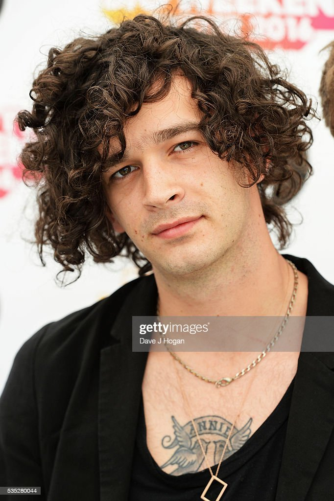 <a gi-track='captionPersonalityLinkClicked' href=/galleries/search?phrase=Matthew+Healy&family=editorial&specificpeople=10172163 ng-click='$event.stopPropagation()'>Matthew Healy</a> of The 1975 poses for a photo during day 2 of BBC Radio 1's Big Weekend at Powderham Castle on May 29, 2016 in Exeter, England.