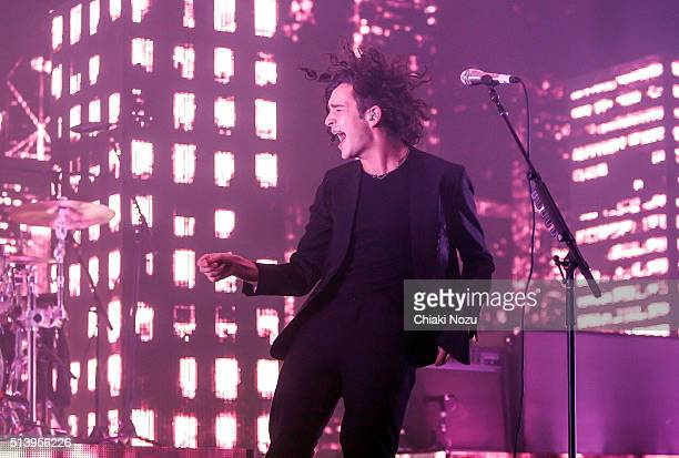 Matthew Healy of the band The 1975 performs at Brixton Academy on March 5 2016 in London England
