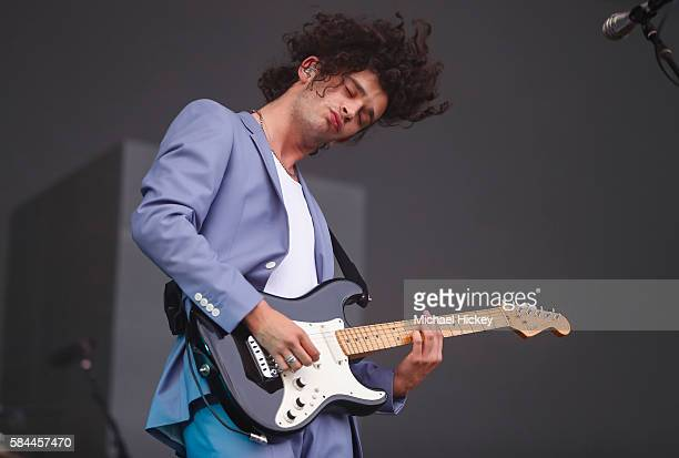 Matthew Healy of the band The 1975 performs on day one of Lollapalooza on July 28 2016 in Chicago Illinois