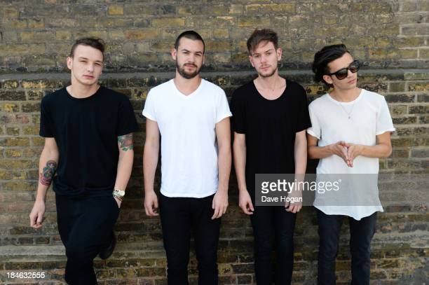 Matthew Healy Ross MacDonald Adam Hann and George Daniel of The 1975 perform for a Biz Session on July 17 2013 in London England