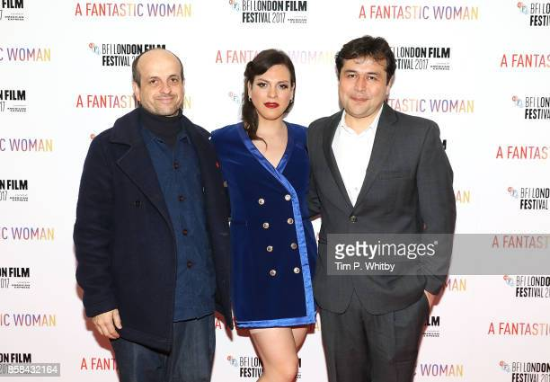 Matthew Herbert Daniela Vega and Gonzalo Maza attend the BFI Flare Special Presentation and UK Premiere of 'A Fantastic Woman' during the 61st BFI...