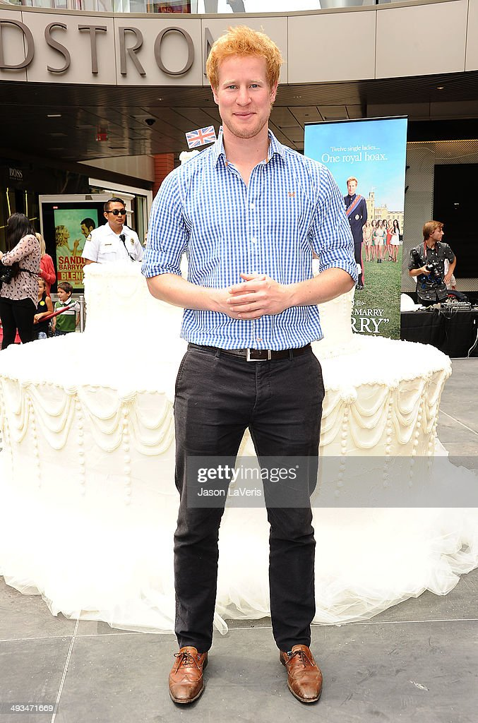 Matthew Hicks attends the 'I Wanna Marry Harry' wedding cake ring dive event at Santa Monica Place on May 22 2014 in Santa Monica California