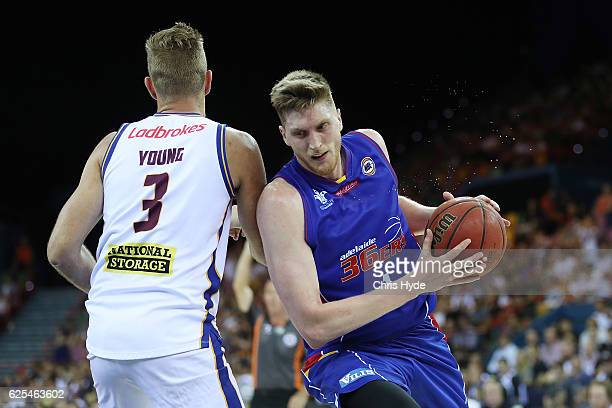 Matthew Hodgson of the 36ers drives to the basket during the round eight NBL match between the Brisbane Bullets and the Adelaide 36ers at the...