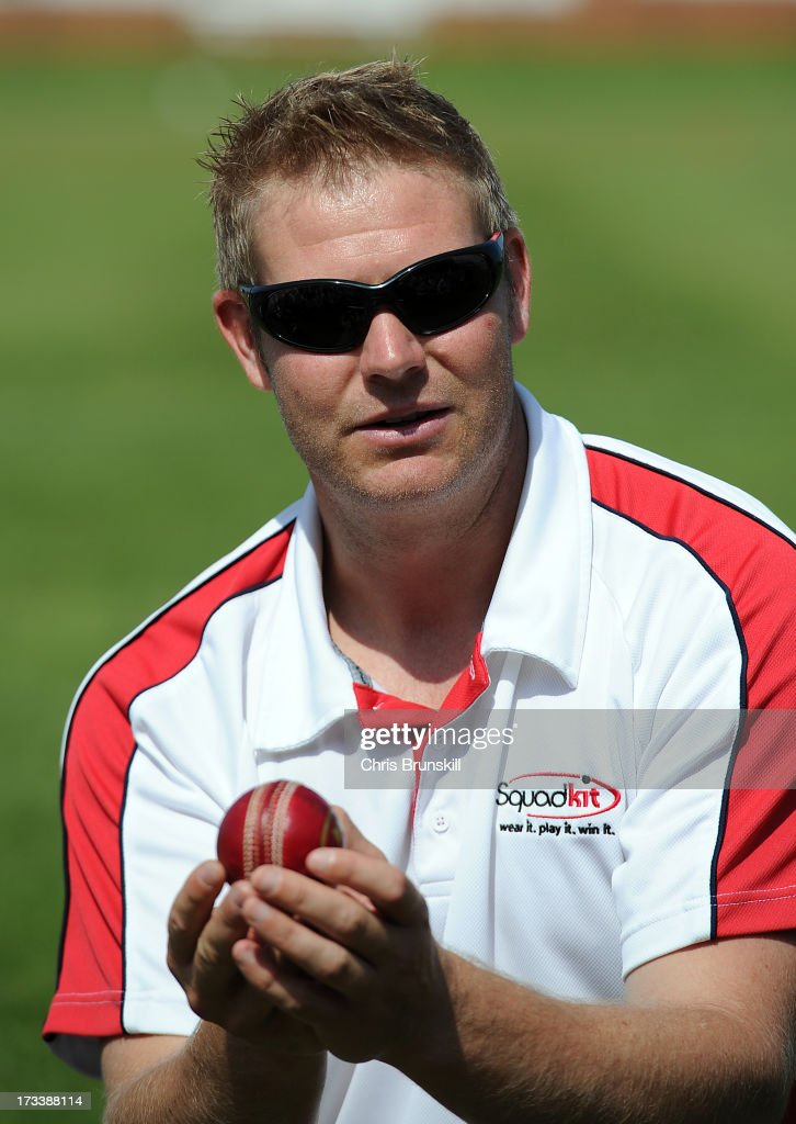 <a gi-track='captionPersonalityLinkClicked' href=/galleries/search?phrase=Matthew+Hoggard&family=editorial&specificpeople=193834 ng-click='$event.stopPropagation()'>Matthew Hoggard</a> takes part in a question and answer session during the ECB's Club Open Days campaign at Mansfield Hosiery Mills CC on July 13, 2013 in Mansfield, England.