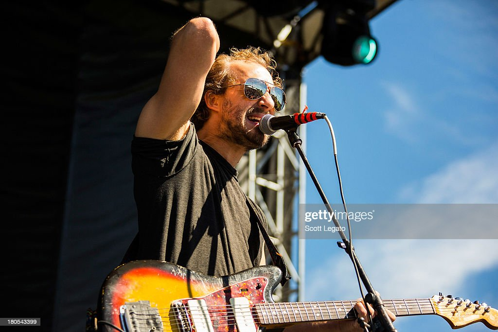 Matthew Houck of Phosphorescent performs during the St Jerome's Laneway Festival at Meadow Brook Music Festival on September 14, 2013 in Rochester, Michigan.