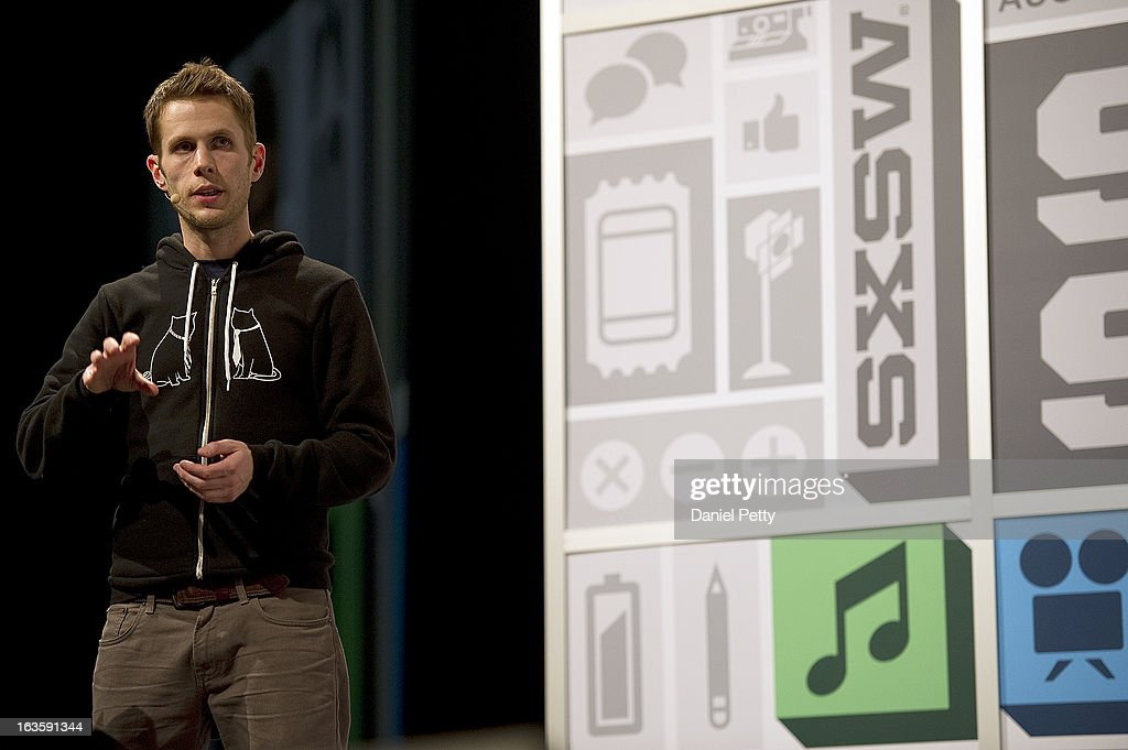 Matthew Inman, creator of the popular illustrated web comic The Oatmeal, speaks during the Tuesday afternoon keynote at the 2013 South by Southwest Music, Film and Interactive Festival on March 12, 2013, in Austin, Texas. Inman was the final keynote speaker of the interactive portion of the event.