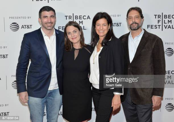Matthew J Malek Kate Brooks Laurie David and Dr Samuel K Wasser attends 'The Last Animals' Premiere during 2017 Tribeca Film Festival at Cinepolis...