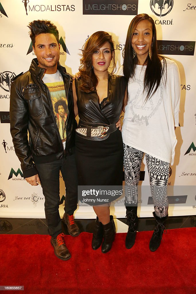 Matthew Jacobi, Ainy Naim and Sari Baez attend the Secret Circus Clothing Fashion Week Kick Off Event at the Limelight Marketplace on February 6, 2013 in New York City.