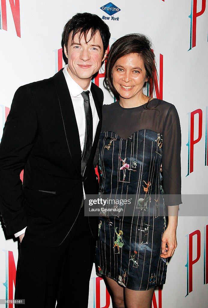 Matthew James and Diane Paulus attend the after party for the Broadway opening night of 'Pippin' at Slate on April 25, 2013 in New York City.