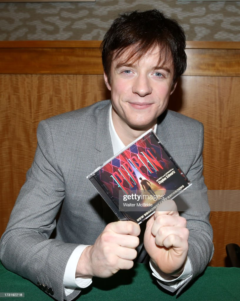 Matthew James Thomas attends the Broadway cast of 'Pippin' performance and CD signing at Barnes & Noble, 86th & Lexington on July 9, 2013 in New York City.