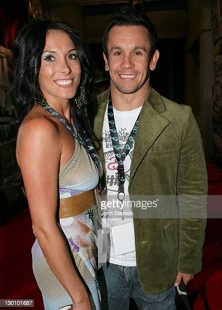 Matthew Johns and Guest during MTV Australia Video Music Awards 2006 Red Carpet at Superdome in Sydney Australia