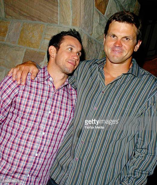 Matthew Johns and Paul Harragon at the Footy Show season launch at the Attica Brasserie and Bar Glebe 28 March 2006 SHD Picture by JANIE BARRETT