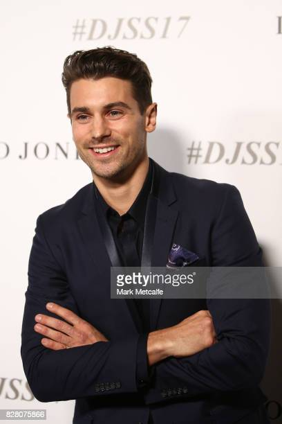 Matthew Johnson arrives ahead of the David Jones Spring Summer 2017 Collections Launch at David Jones Elizabeth Street Store on August 9 2017 in...