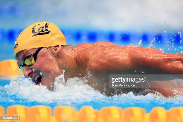 Matthew Josa competes in a Men's 100 LC Meter Butterfly heat race during the 2017 Phillips 66 National Championships World Championship Trials at...
