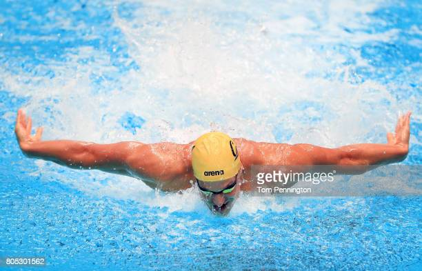 Matthew Josa competes in a Men's 200 LC Meter Individual Medley during the 2017 Phillips 66 National Championships World Championship Trials at...