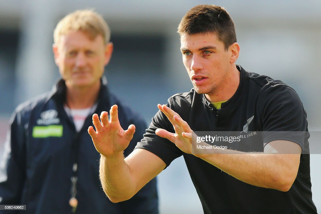 Matthew Kreuzer of the Blues looks ahead during the Carlton Blues AFL training session at Ikon Park on June 1, 2016 in Melbourne, Australia.